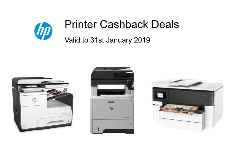 HP Cashback Printer Deals
